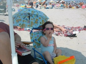 Sherry Wolkoff's granddaughter, Maxie Mandel, at the beach