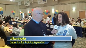 Allison Snyder discusses training Super Sunday volunteers