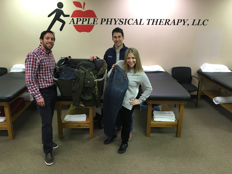 clothing drive at apple therapy
