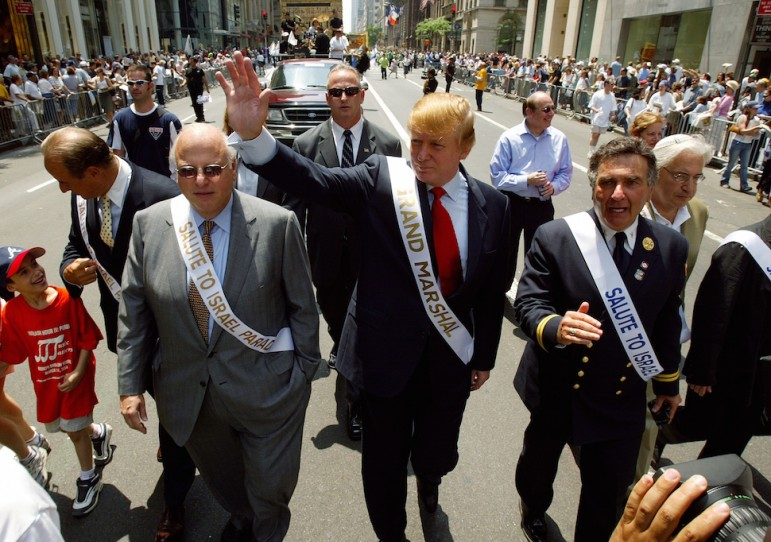 UNITED STATES - MAY 23: Grand Marshal Donald Trump marches in the Salute to Israel Parade on Fifth Ave. (Photo by Ron Antonelli/NY Daily News Archive via Getty Images)